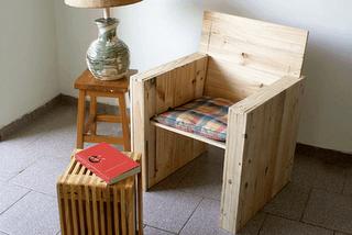 Decoraci n minimalista muebles con pal s - Sillas hechas con palets ...
