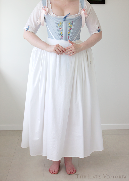 broadcloth petticoat front veiw