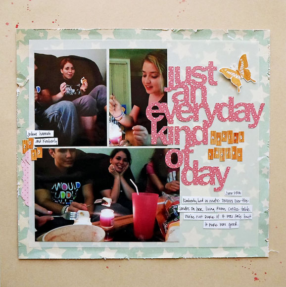 Friendship Scrapbook Layout