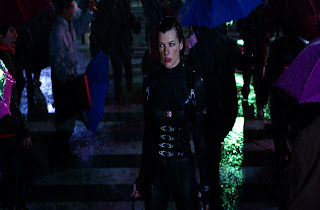 Resident Evil Retribution Alice Under Rain Screenshot HD Wallpaper