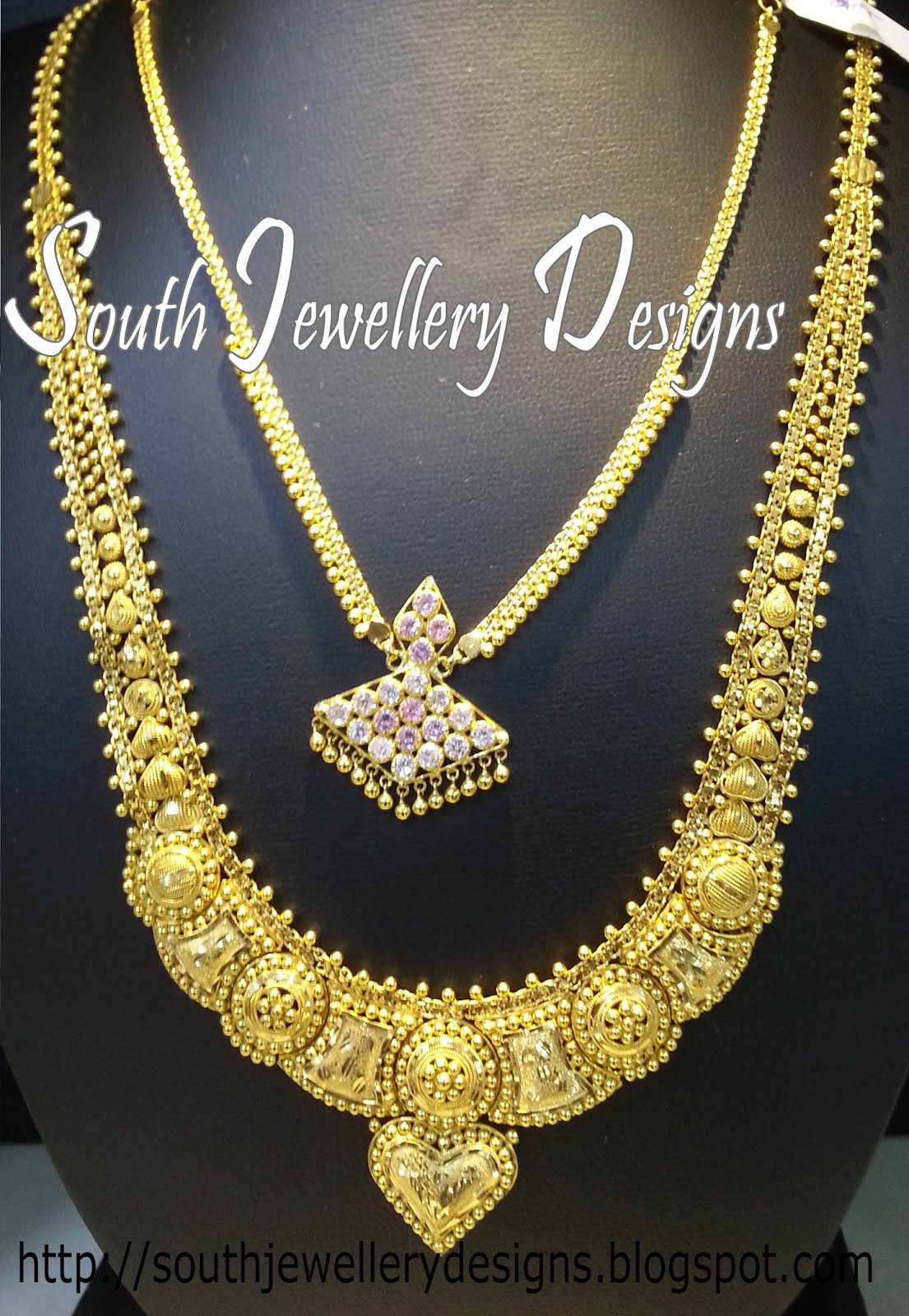 South Jewellery Designs: South Indian Kerala Long Chain Models