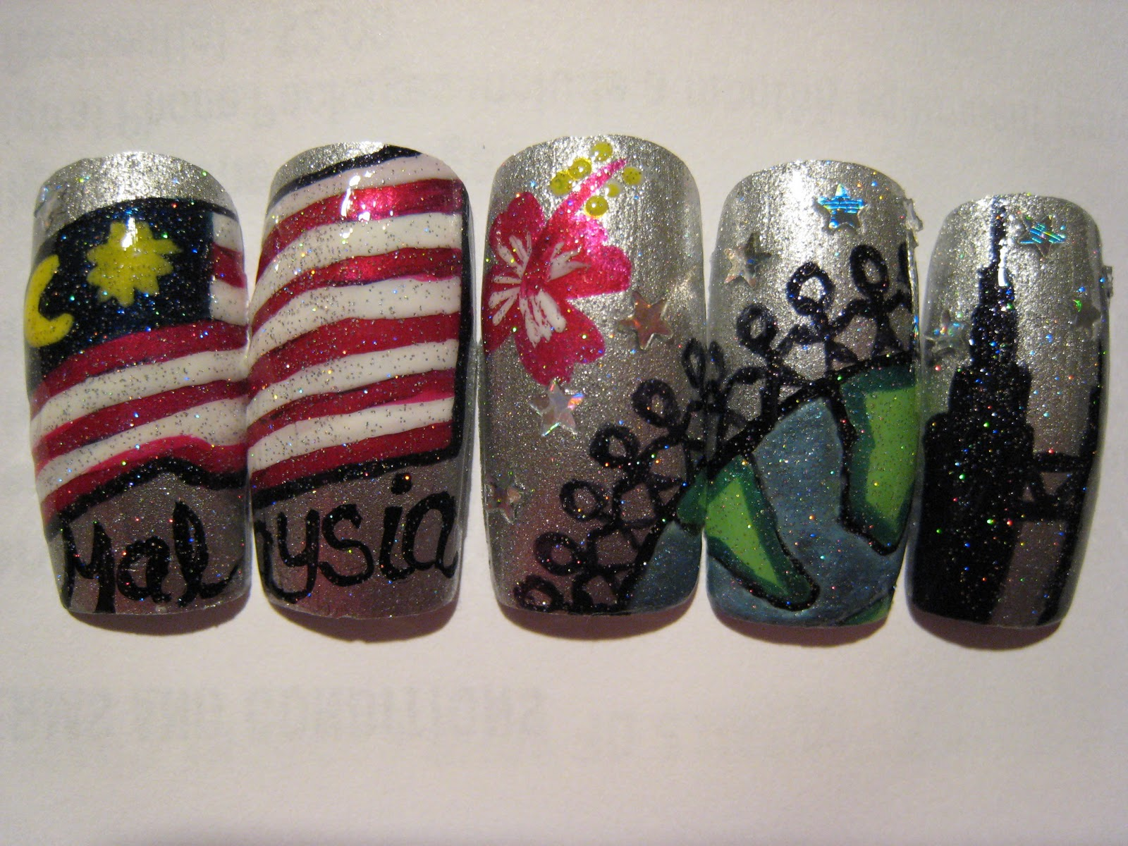 Silence is loud show my country nail art a nail art that represent my country alot of people are not familiar with my country basically when you look at the world map and find the potato gumiabroncs Images