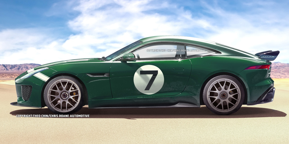 Rendering Jaguar F Type Gt3