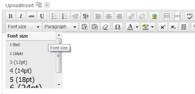 TinyMCE WordPress Plugin to Increase Font Size