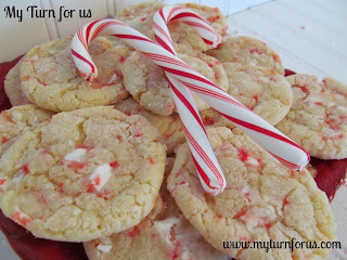 Candy Cane Chewy Cookies from My Turn (for us)
