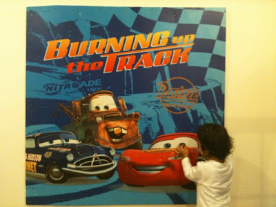 Lizzie as a Mummy: Aiden's Disney Cars 2nd Birthday Preparation