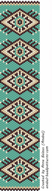 Схема браслета - мозаичное плетение бисероплетение