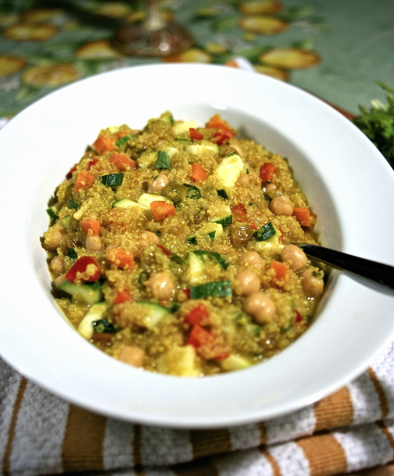 Quinoa Vegetable Salad- GF version Couscous Salad- simplelivingeating.com