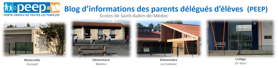 Ecoles St Aubin de Médoc - Infos de la PEEP