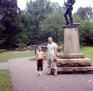father and son at devils den gettysburg