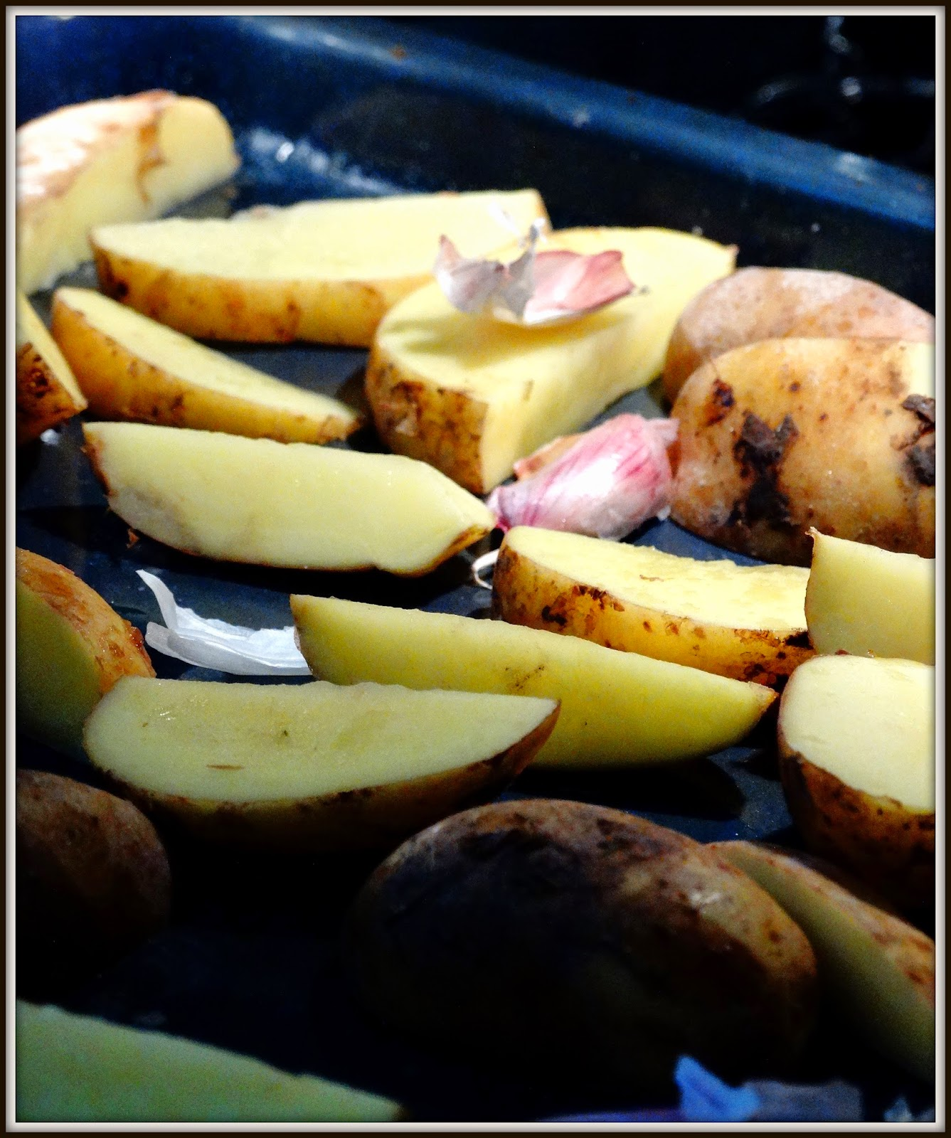 Ziemniaki, czosnek, piekarnik