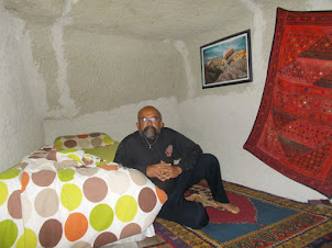 """Inside classic """"Limestone Cave"""" room of """"Ishtar Cave Pansion """" hostel."""