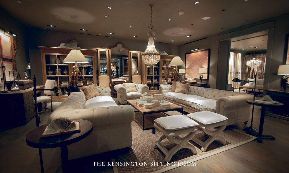 Kings down road a shopping experience for Restoration hardware online shopping