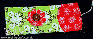 Cute Holder for Lipsticks using Stampin' Up! Fabric and no real sewing by Stampin' Up! Demonstrator Bekka - www.feeling-crafty.co.uk