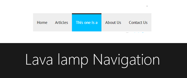 How to create Lava Lamp navigation menu and use it in Blogger native pages widget