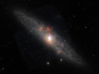 Галактика NGC 253 в созвездии Скульптор