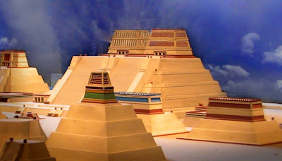 Recreación del Templo Mayor en México Tenochtitlan