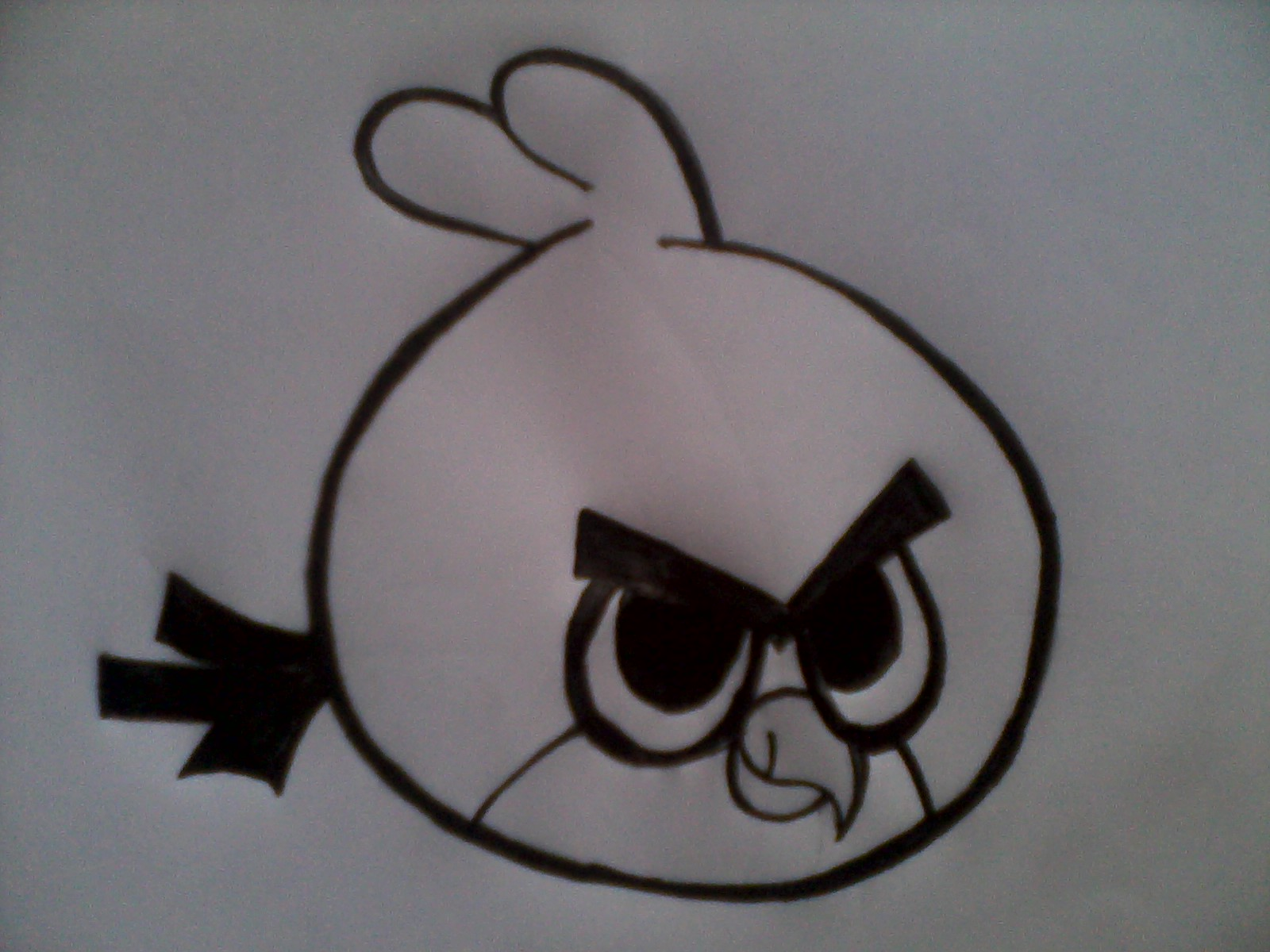 Here are the simple and very easy steps to draw angry bird