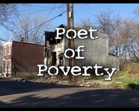 Image of an abandoned building, a still from the film Poet of Poverty.