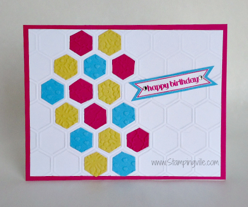 Stampin' Up! Honeycomb Embossed Birthday Card