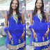 Blue Kundan Work Net Salwar kameez