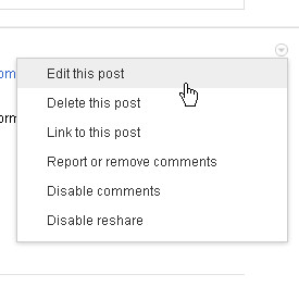 How to Edit and Delete Google Plus Status