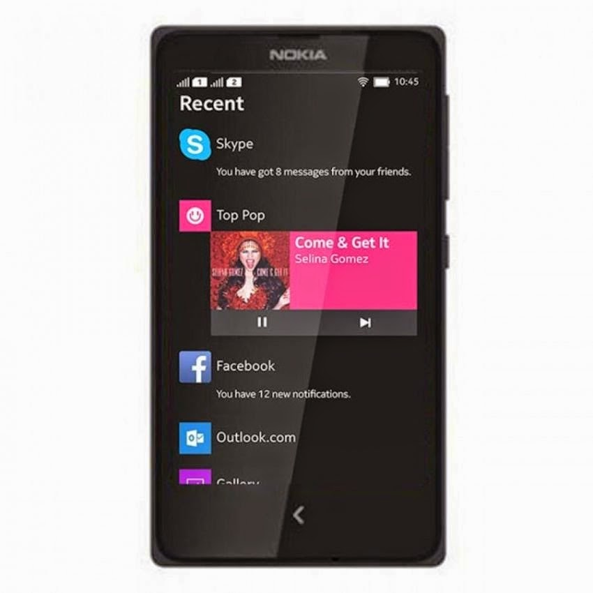 Spesifikasi Gambar Nokia X Android Dual Kartu 4 GB