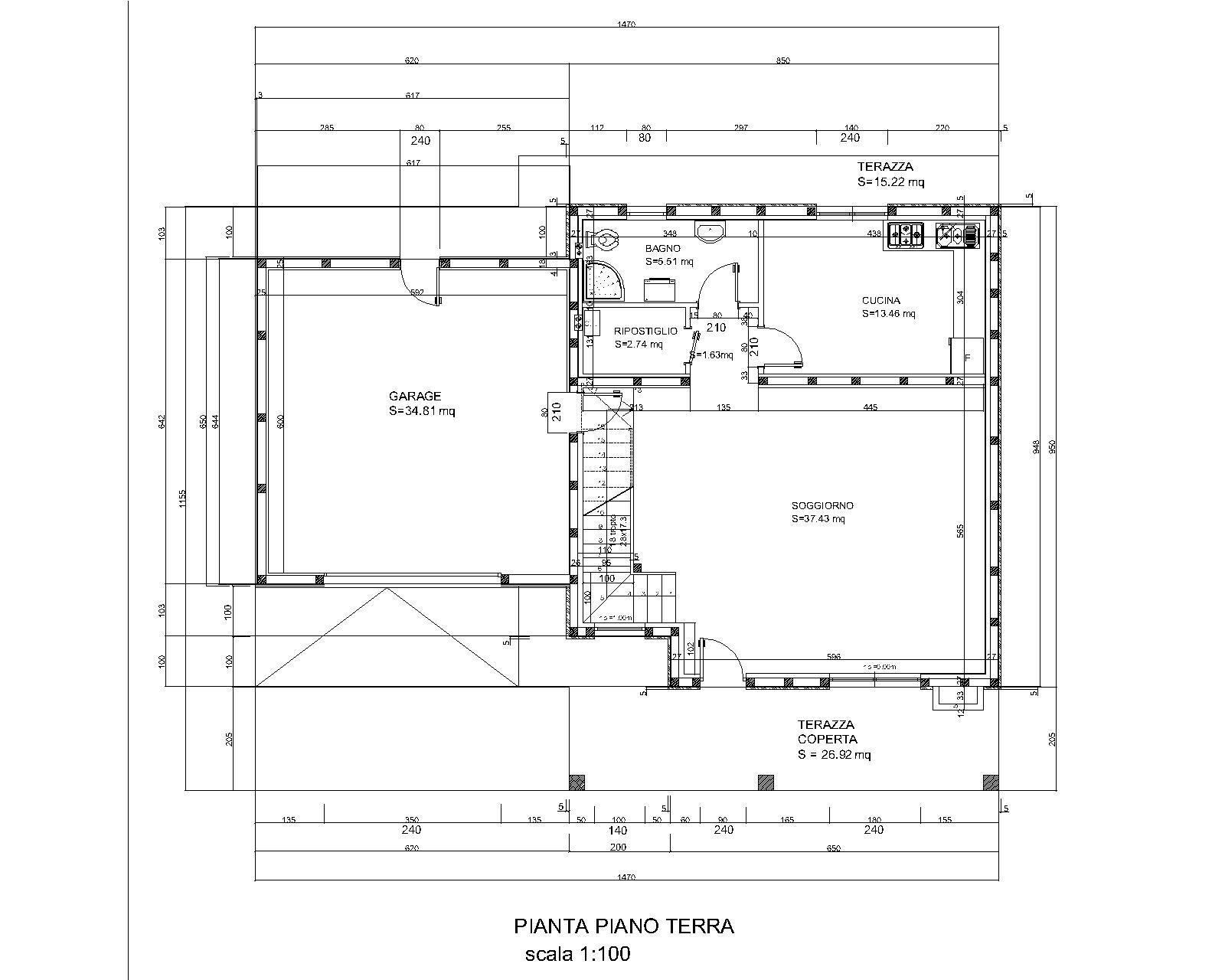 Progetti di case in legno villetta 158 mq garage 2 for Progetti di portico anteriore