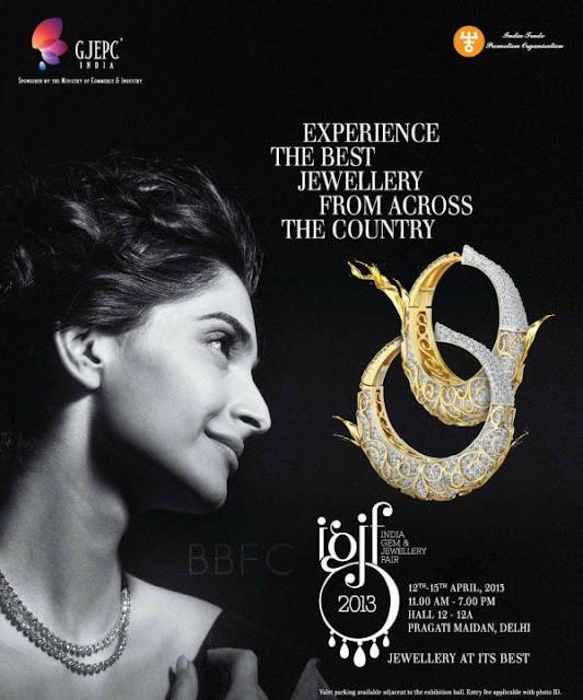 Sonam Kapoor for India Gems & Jewellery Fair ad print