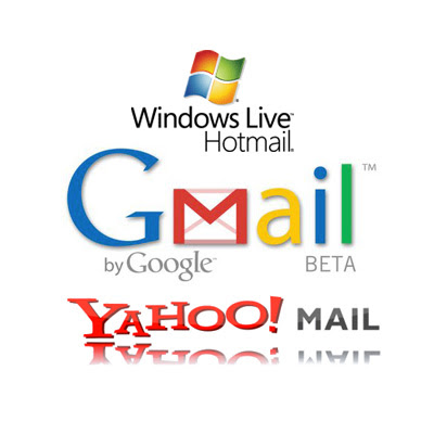 yahoo hotmail gmail: