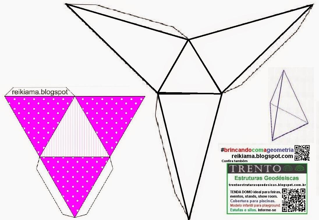 Brincar faz bem Piramide triangular molde para imprimir