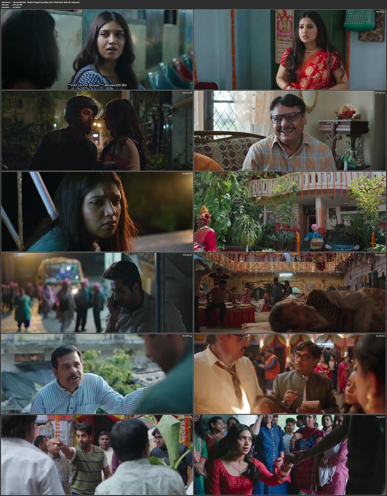 Shubh Mangal Saavdhan 2017 Bollywood 340MB WEB HD 480p