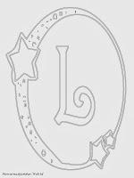 Mewarnai Gambar Huruf Alfabet L Bergaya Bulan Bintang