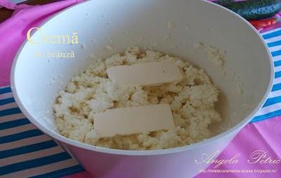 Preparare crema de branza-etapa 2