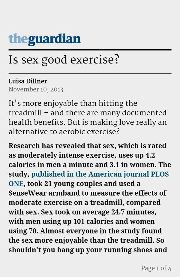 Is sex good exercise