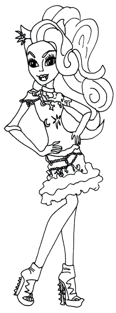 Monster High Coloring Pages Clawdeen Wolf