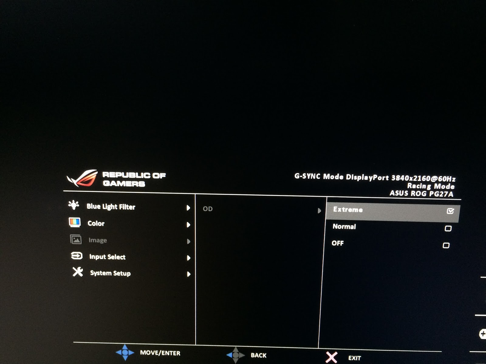 how to turn off asus rog swift fps counter