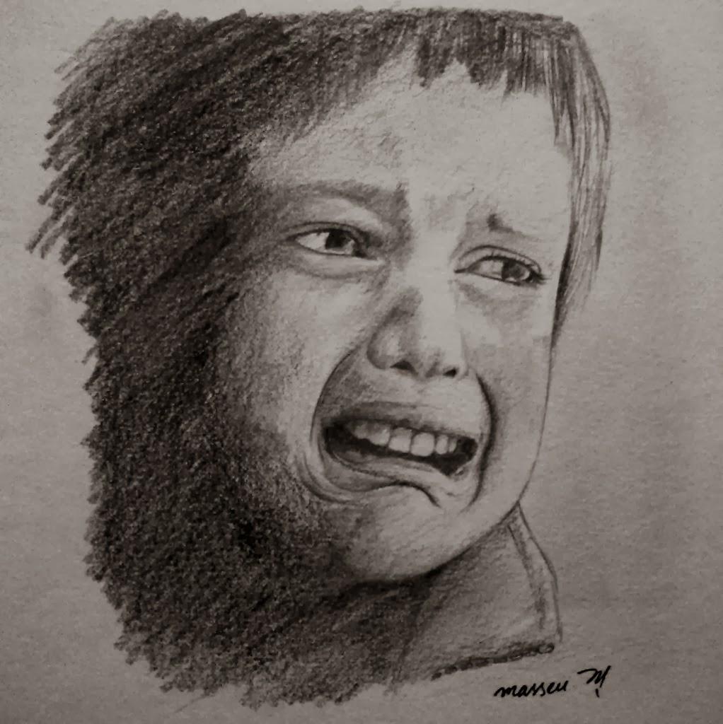 Crying boy sketch