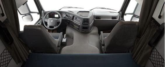 Volvo fmx driver cab interior