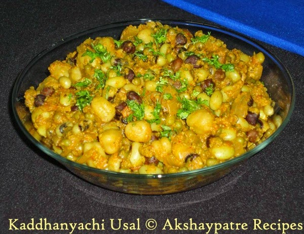 prepared kaddhanyachi usal