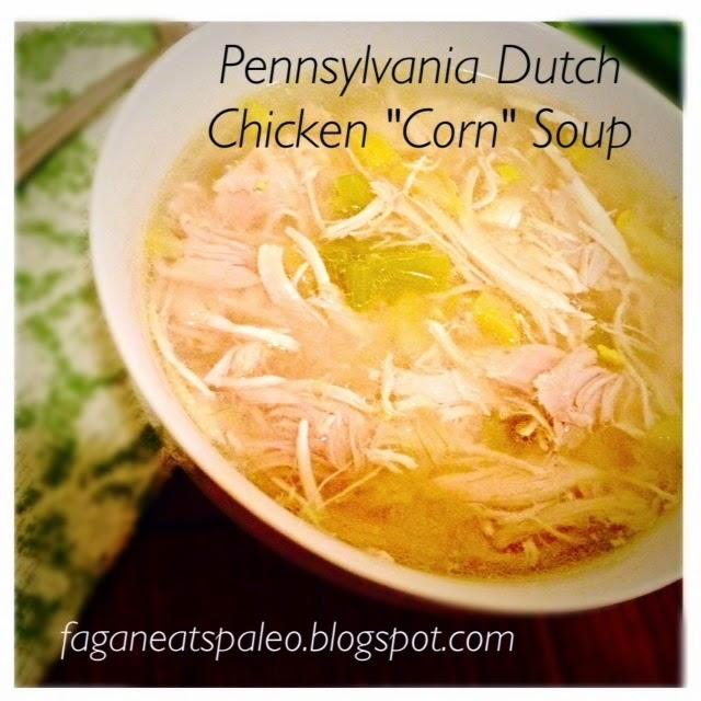 "Paleo Pennsylvania Dutch Chicken ""Corn"" Soup"