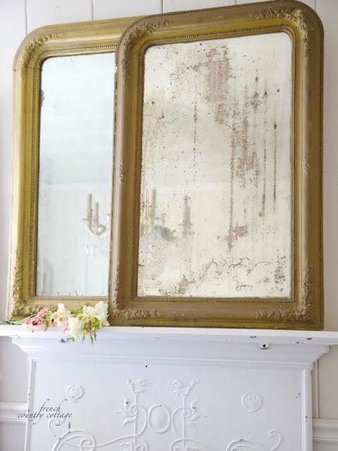 Pair of antique gold mirrors