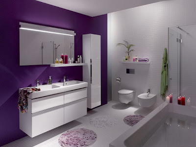 baño color morado