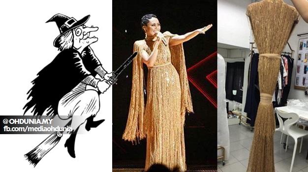 Baju Dayang Nurfaizah Inspirasi Daripada Penyapu Ahli Sihir?..