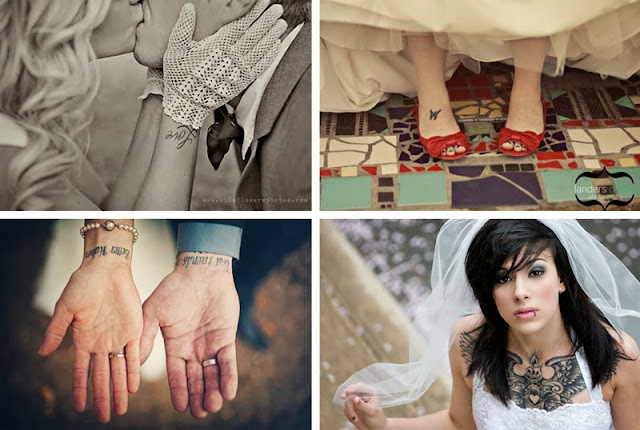 novias con tatuaje