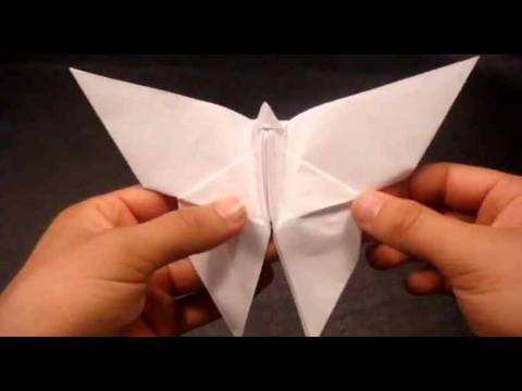 how to make a simple origami butterfly