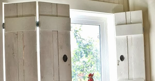Make charming window shutters for $10! - Design Dreams by Anne