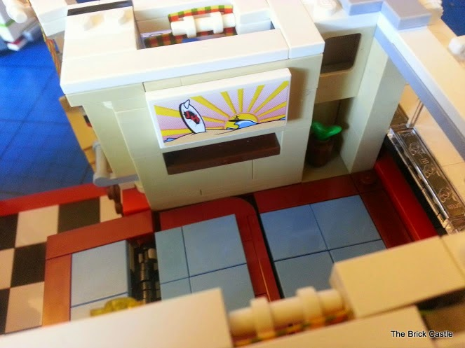 LEGO T1  Volkswagen Split screen Campervan set 10220 review interior