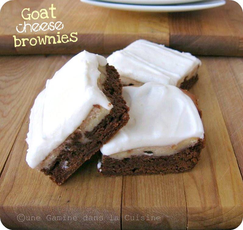 une gamine dans la cuisine: Goat Cheese Brownies