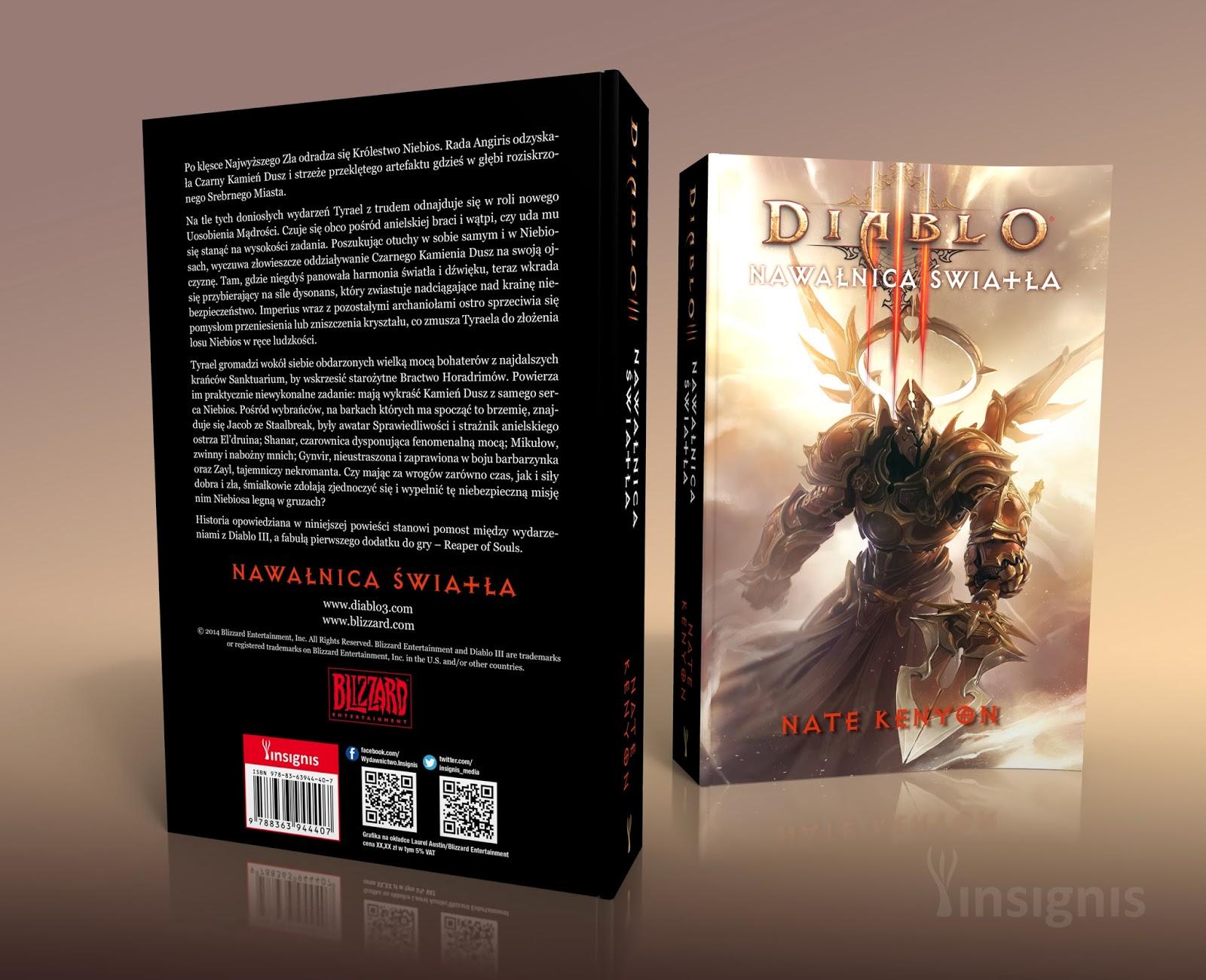 Nowa książka z serii Diablo III autorstwa Nate'a Kenyona, cenionego twórcy thrillerów, już 19 marca w księgarniach!